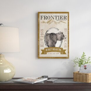 'Frontier Brewing Co. IV (Burly Bear IPA)' Vintage Advertisement on Canvas ByEast Urban Home