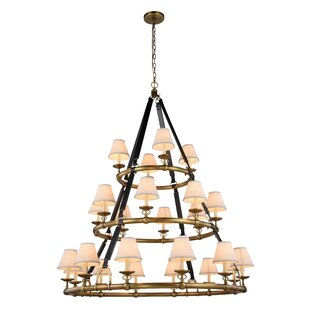 Darby Home Co Slater 24-Light Shaded Chandelier