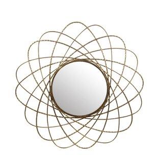 Brayden Studio Westberry Iron Round Wall Accent Mirror