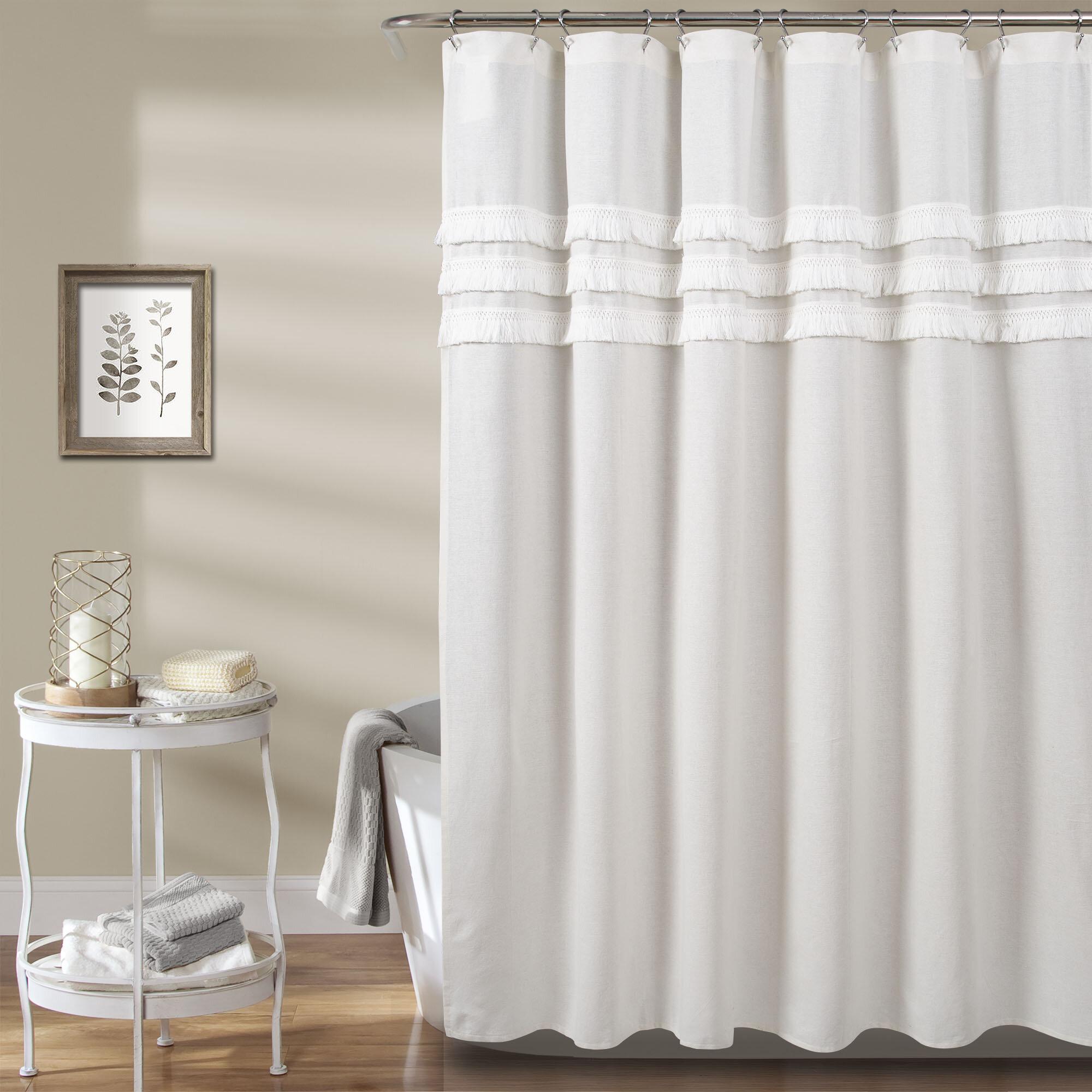 Marzano 100 Cotton Solid Color Single Shower Curtain Reviews Allmodern