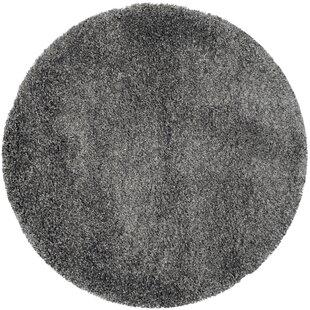 Maya Flokati Dark Gray Area Rug by Willa Arlo Interiors