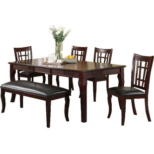 Hawk Haven 6 Piece Extendable Dining Set