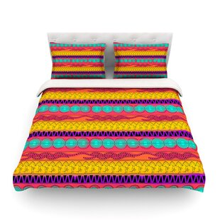 Pattern Watercolor Colorful Pattern by Famenxt Featherweight Duvet Cover