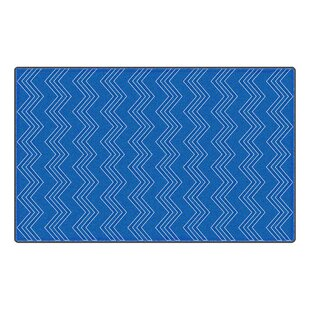 Price comparison Bellville Modern Chevron Fun Blue Area Rug By Zoomie Kids