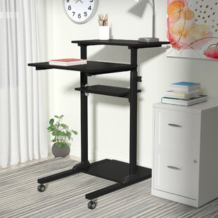 Degregorio Mobile Height Adjustable Computer Work Station Standing Desk
