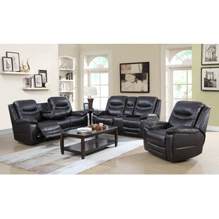 Louviere 3 Piece Reclining Living Room Set