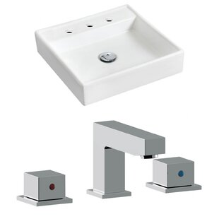 Top Reviews Ceramic 17.5 Wall Mount Bathroom Sink with Faucet By Royal Purple Bath Kitchen