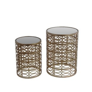 Ermanno 2 Piece End Table Set by Willa Arlo Interiors