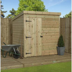 Barsana 5 Ft. W X 5 Ft. D Shiplap Pent Wooden Shed By Union Rustic