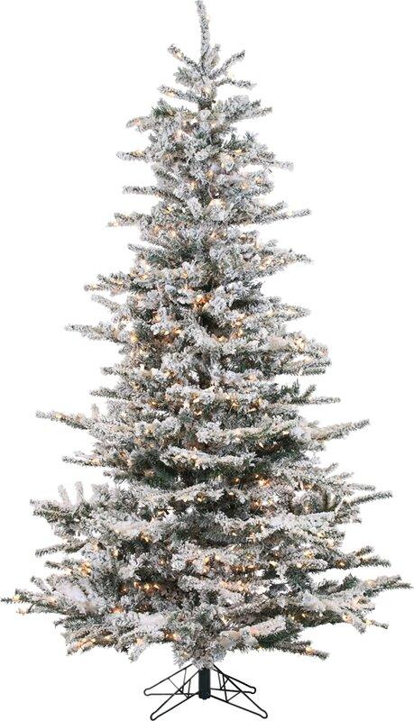 Lark Manor Pre-Lit 85' White Spruce Trees Artificial Christmas ...