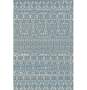 Strausbaugh Blue Indoor/Outdoor Area Rug