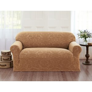 Damask T-Cushion Loveseat Slip..