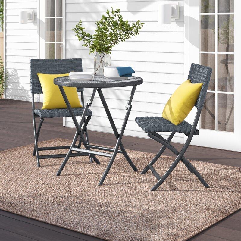 Zipcode Design Prattsville 3 Piece Bistro Set