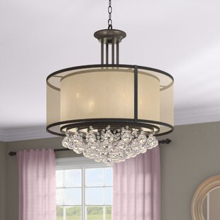 Inexpensive Weaver Double Shade 4-Light Chandelier By Rosdorf Park