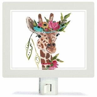 Boho Giraffe Night Light