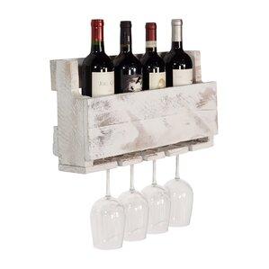 Kupunkamint 4 Bottle Wall Mounted Wine Bottle Rack by Loon Peak