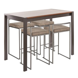 Gary Industrial 5-Piece Counter Height Dining Set