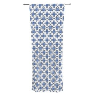 Bohemian Blues III By Carolyn Greifeld Geometric Sheer Rod Pocket Curtain Panels Set Of 2
