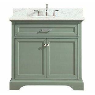 Valentia Marble Top 37 Single Bathroom Vanity Set by Rosecliff Heights