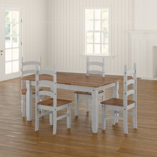 Cowley Dining Set With 4 Chairs By Alpen Home