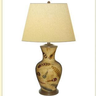 Floating Fern Hand Painted Porcelain 34 Table Lamp