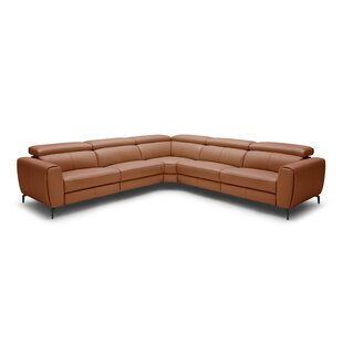 Shop Paulson Leather Reclining Sectional by Brayden Studio