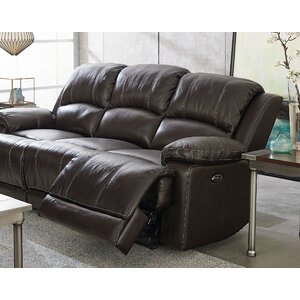 Red Barrel Studio Garlock Leather Reclining Sofa Palaw Kailum
