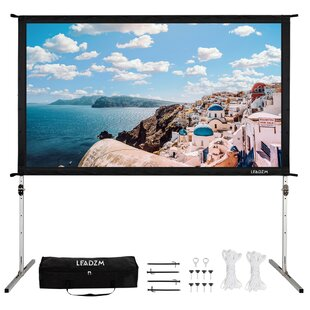 Wide Viewing Angle White 100 Portable Projection Screen by Ktaxon