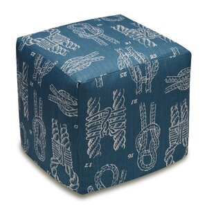 Knots Upholstered Cube Ottoman by 123 Creations