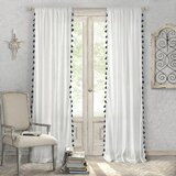 Alexis Solid Semi-Sheer Cotton Rod Pocket Curtain Panels