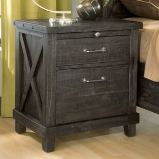 Oman Wooden 2 Drawer Nightstand