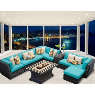 Rosecliff Heights Eldredge 10 Piece Sectional Set with Cushions