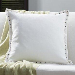 Dixmoor Stud Trim Throw Pillow