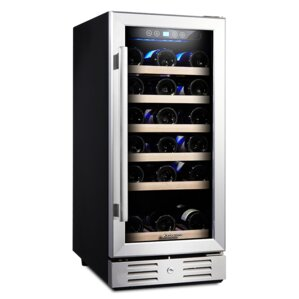 30 Bottle Single Zone Built-in Wine Cooler by Kalamera