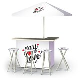 Aliquippa Valentines My Love 6-Piece Bar Set