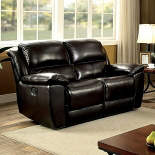 Hue Leather Loveseat