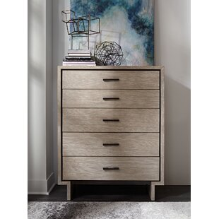 Brayden Studio Keiper 5 Drawer Chest