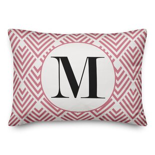 Blasa Arrows Monogram Personalized Outdoor Lumbar Pillow