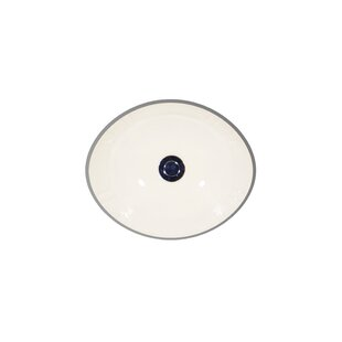 St Thomas Creations by Icera Antigua Ceramic Oval Undermount Bathroom Sink with Overflow