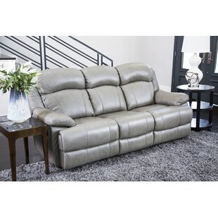 Darby Home Co Nigel Leather Reclining Sofa