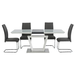 Jayne Dining Set With 6 Chairs By Metro Lane