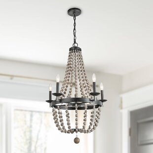 Bevan Wood 5-Light Empire Chandelier by Bungalow Rose