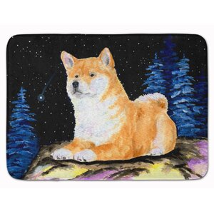 Starry Night Shiba Inu Memory Foam Bath Rug