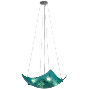 Meyda Tiffany Metro Fusion Aquamarine Crinkle 4-Light Novelty Chandelier