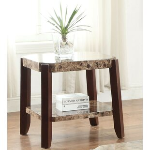 Ludie End Table by Fleur De Lis Living