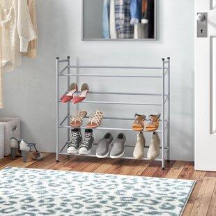 Chrome 4-Tier Extendable 10 Pair Shoe Rack By Wayfair Basics