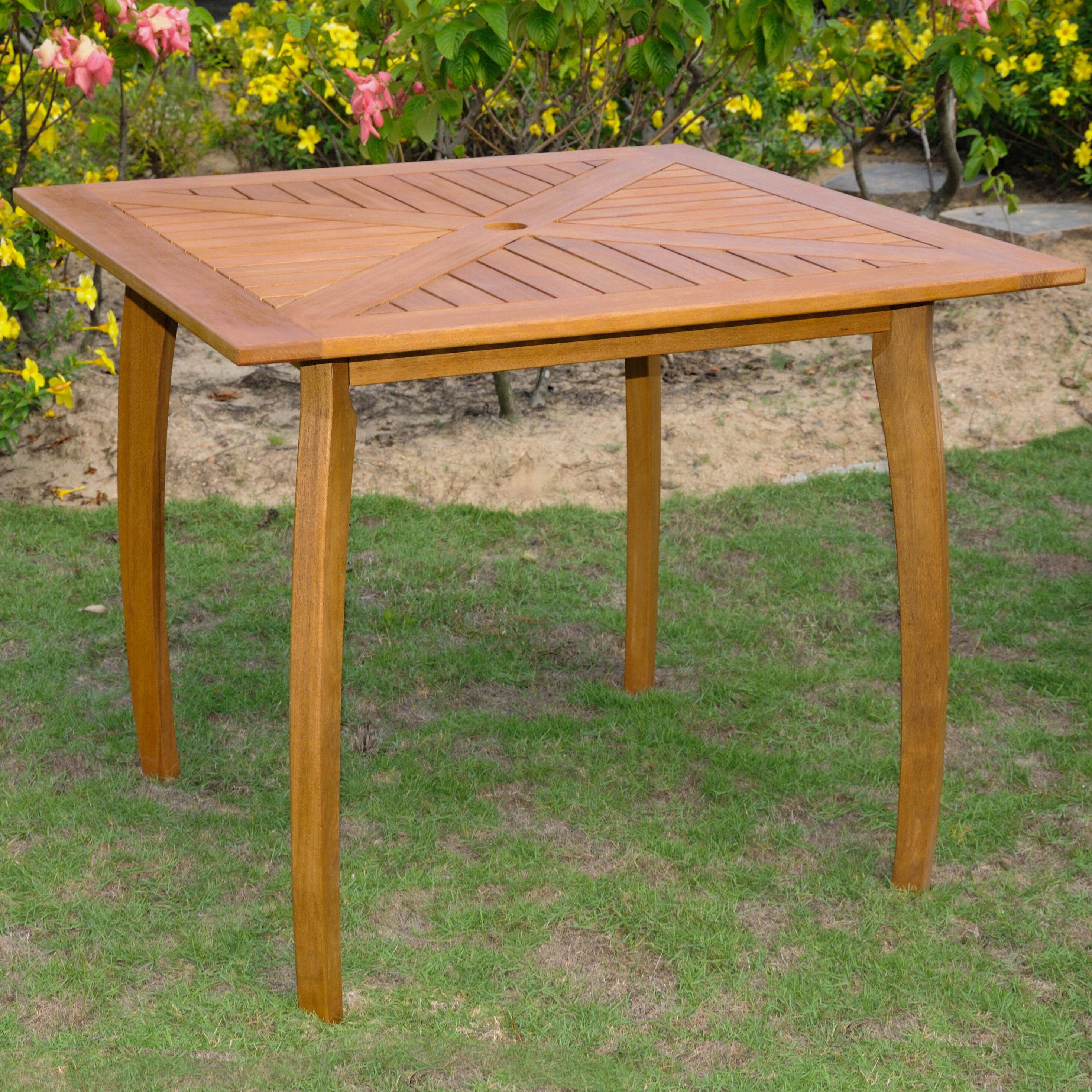 Breakwater Bay Sabbattus Wooden Bistro Table Reviews Wayfair