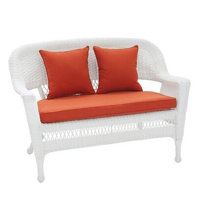 Fantastic Birch Lane Heritage Alburg Loveseat With Cushions Fabric Red Inzonedesignstudio Interior Chair Design Inzonedesignstudiocom
