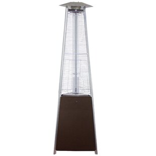 Commercial Glass Tube 41,000 BTU Propane Standing Patio Heater By AZ Patio Heaters