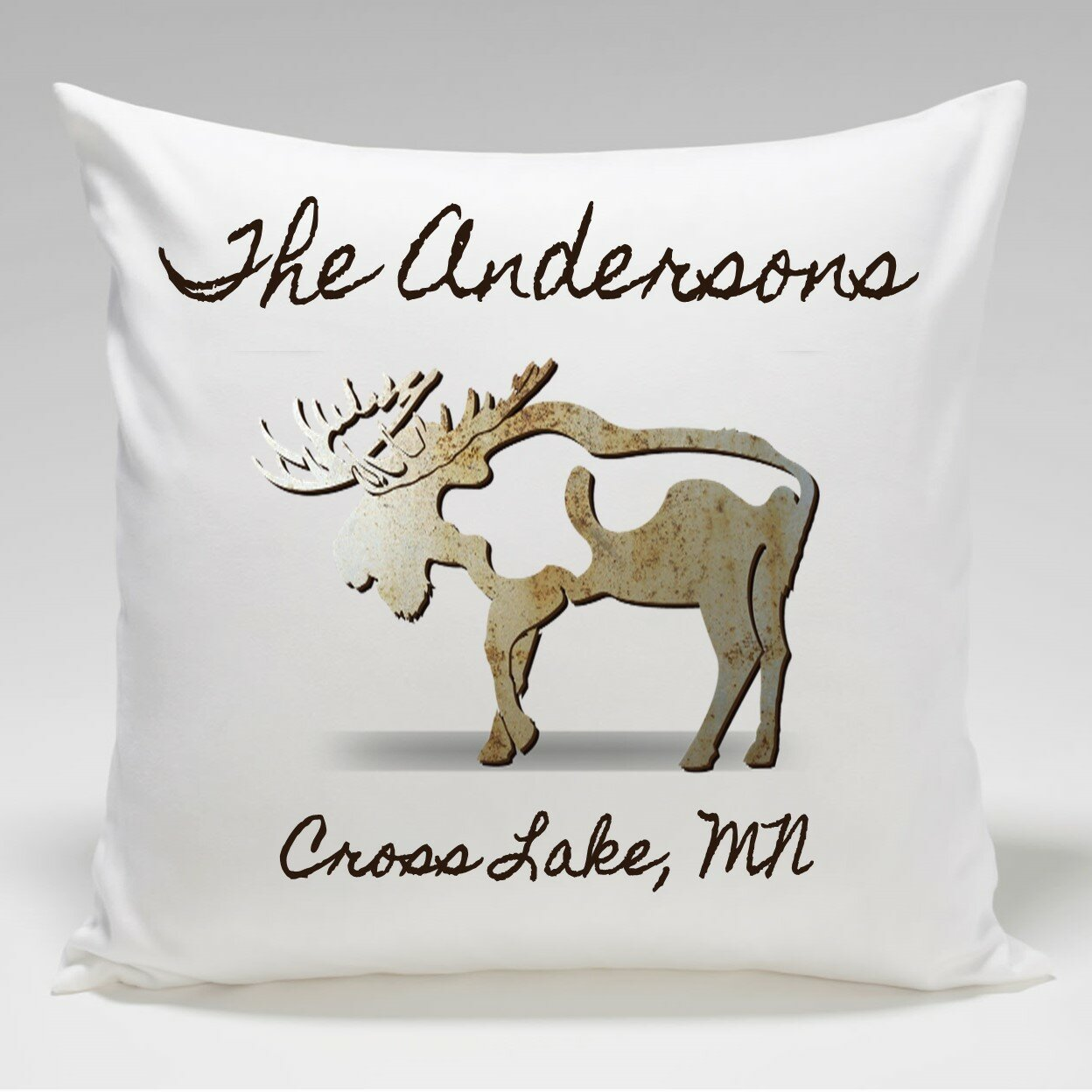 Jds Personalized Gifts Personalized Cabin Moose Throw Pillow Wayfair